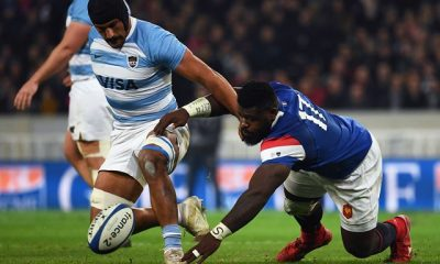 zzzzinte1France's prop Dany Priso (R) vies for the ball with Argentina's flanker Rodrigo Bruni  during the international rugby union test match between France and Argentina at the Pierre Mauroy Stadium in Villeneuve-d'Ascq, northern France, on November 17, 2018. (Photo by Anne-Christine POUJOULAT / AFP)zzzz